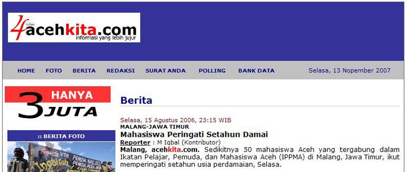 Tampilan Lama Acehkita.com