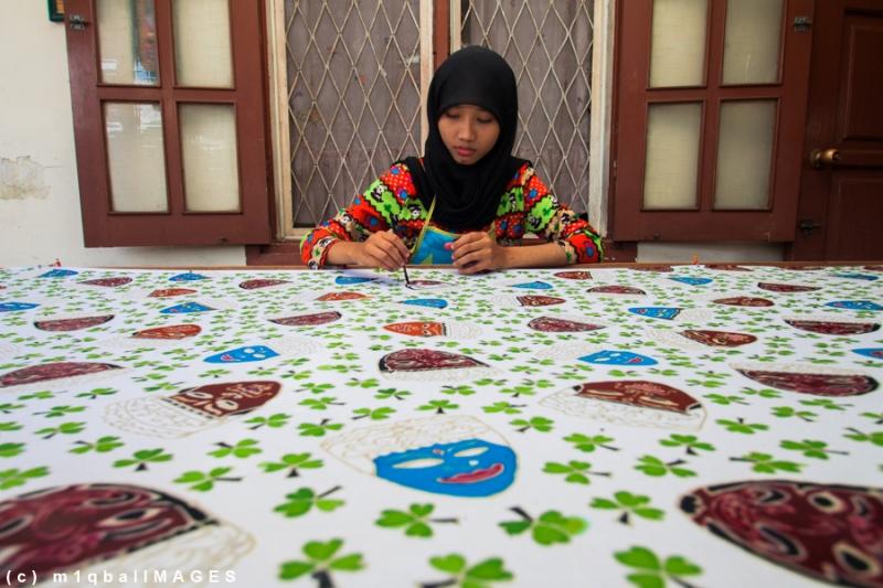 Batik Blimbing - Batik Khas Kota Malang, Batik Blimbing dengan motif Topeng Malangan. #IndonesiaHebat