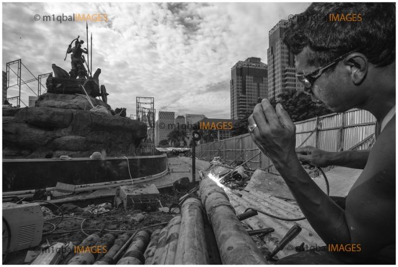 Foto 3 : Pekerja Kota , Monas - Jakarta